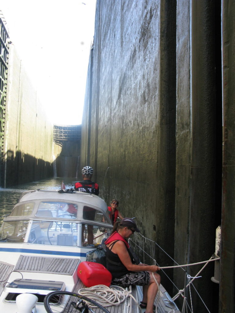 Rhone locks are very deep