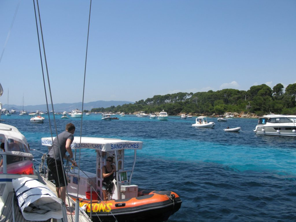 Îles de Lérins anchorages